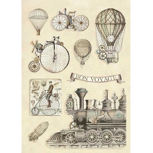 Stamperia - Voyages Fantastiques - Transport - Wooden Shapes
