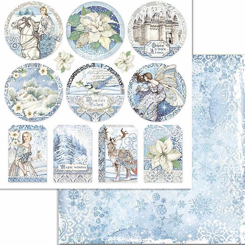 Stamperia-Winter Tales Rounds - 2 - 12x12 Single Sheets-Item #SBB721