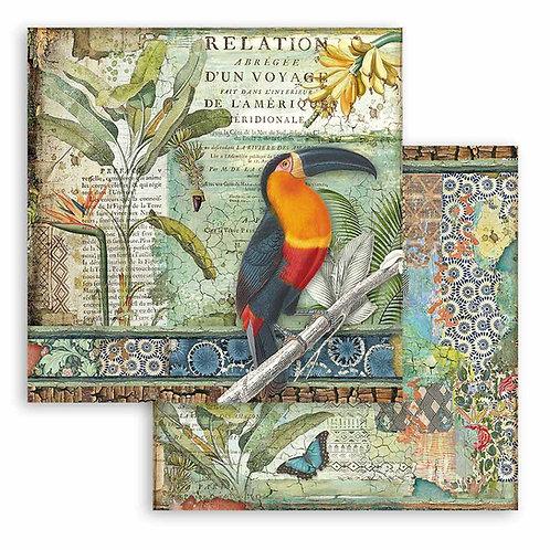 Stamperia - Amazonia - Toucan - 2 - 12x12 Single Sheets