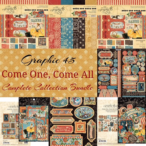 PRE ORDER Graphic 45 - Come One, Come All! - Complete Collection Bundle