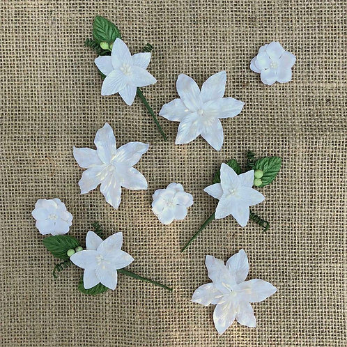 49 and Market-Stargazers Paper Flowers-Simply White