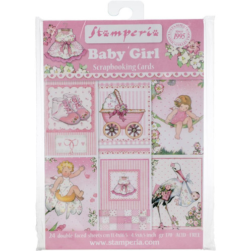 Baby Girl Scrapbooking Cards By Stamperia 45x 65 Cards