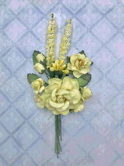 Blue Fern Blooms - Buttercup