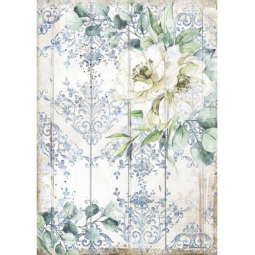 Stamperia - Sea Dream - White Flower - Rice Paper A4