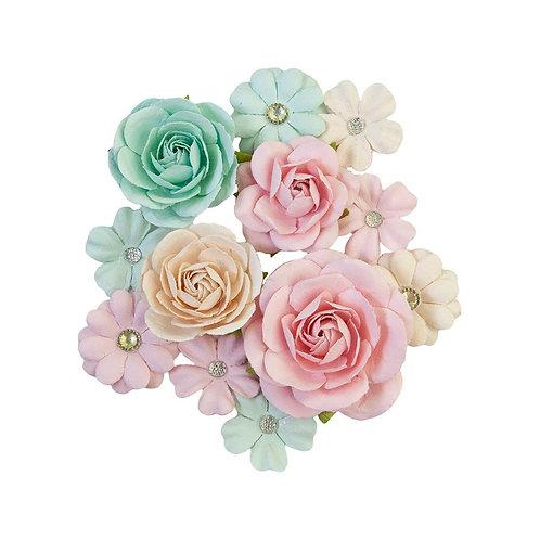 Prima Flowers - Pink Jolly-Sugar Cookie Mulberry Flowers-12 pkg
