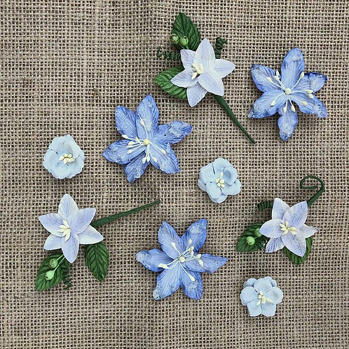 49 and Market-Stargazers Paper Flowers-Periwinkle