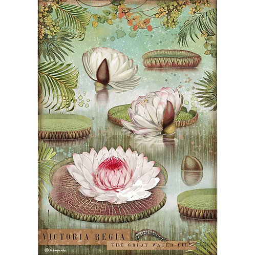 Stamperia - Amazonia - Water Lily - Rice Paper A4