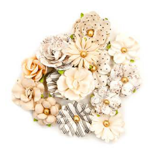 Prima - Pretty Pale Flowers - Caravans