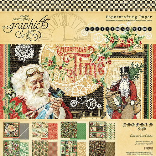 Graphic 45-Christmas Time-8x8 Paper Pad