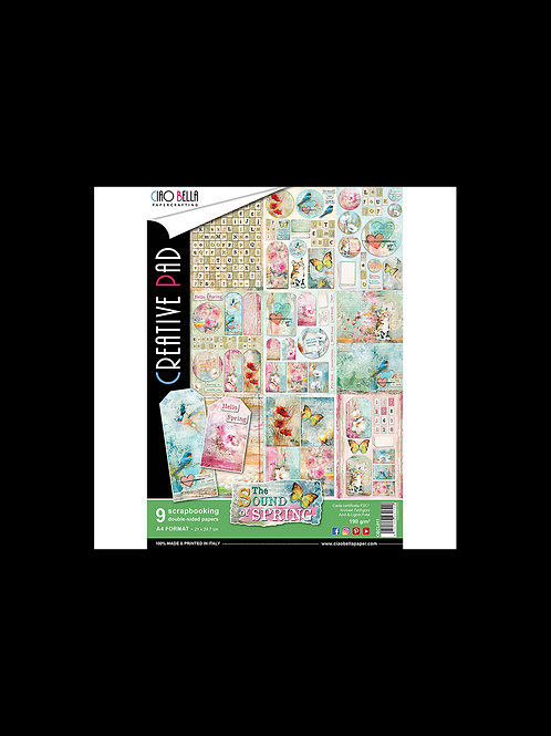 The Sound of Spring by Ciao Bella-9 Double-Side Papers in the A4 Format-CBCL011