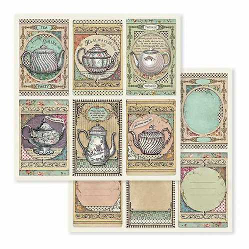Stamperia-Tea Time - 2 - 12x12 Single Sheets-Item #SBB583