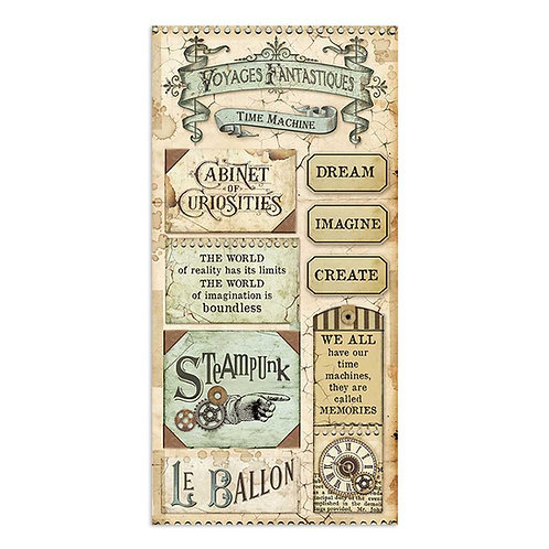 PRE ORDER - Stamperia -Voyages Fantastiques - Collectible Sheets