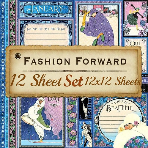 G 45-Fashion Forward-12 Single 12x12 Double-Sided Sheets (No Cover)