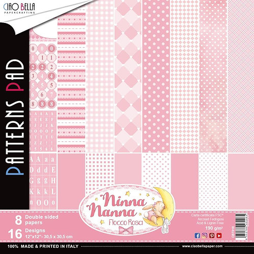 Ninna Nanna Girl by Ciao Bella-8-12x12 Double-Sided Papers-CBT018