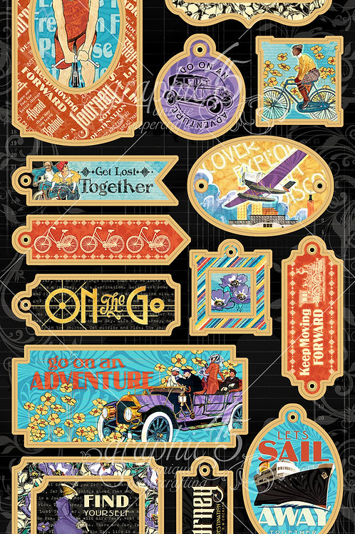 Graphic 45-Life's A Journey-Decorative Chipboard