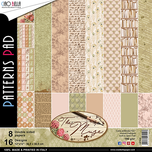 The Muse by Ciao Bella-8-12x12 Double-Sided Papers-CBT028
