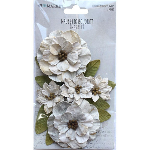 49 and Market - Majestic Bouquet - Marble - 7 pieces