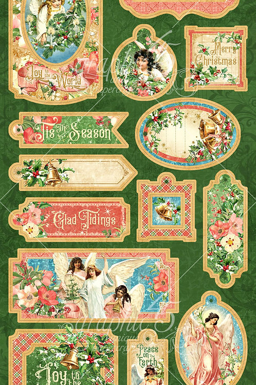 Graphic 45-Joy To The World-Decorative Chipboard