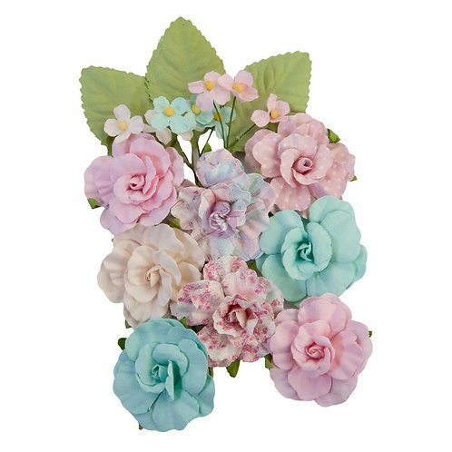 Prima - All Heart/With Love - Mulberry Paper Flowers