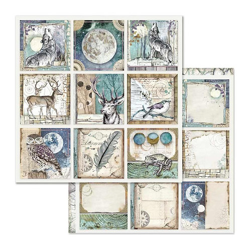 Stamperia-Cosmos Cards - 2 - 12x12 Single Sheets-Item #SBB613