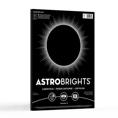 "Neenah - Astrobrights - Eclipse Black Cardstock, 8.5"" x 11"" - 65 lb - 50 Sheets"