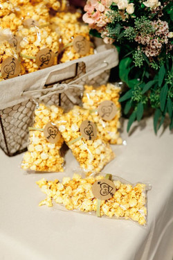 popcorn bags favor - style me pretty