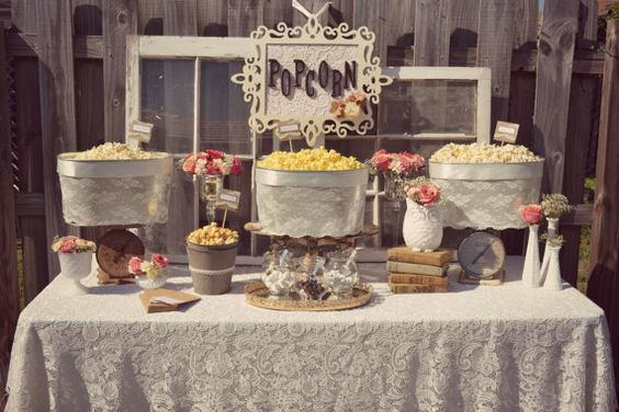 wedding popcorn bar 2