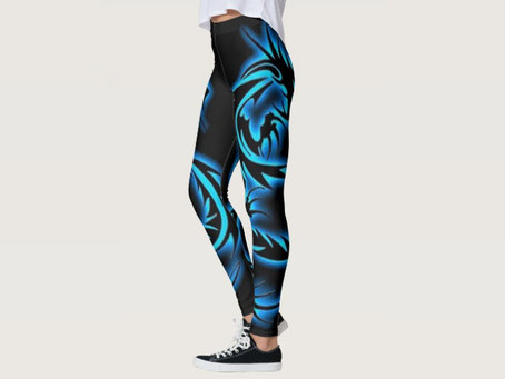 Blue Dragon design Yoga Pants