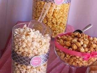 Wedding Reception Popcorn Bar!