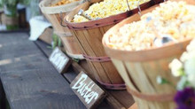 Rustic Outdoor Wedding Popcorn Bar !