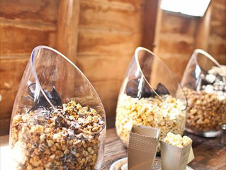 Barn - Rustic Wedding reception Popcorn Snack Bar