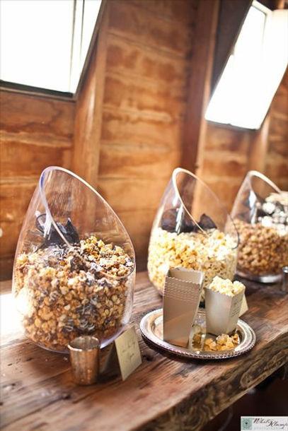 Barn Rustic Wedding Reception Popcorn Snack Bar Popcorn Bulk