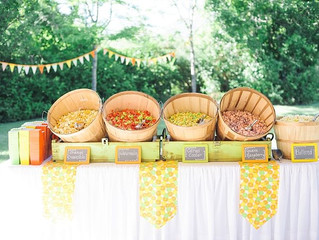 Popcorn snack bar - Rustic Party theme