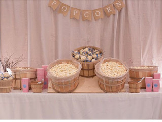 Rustic Wedding Popcorn Snack Bar