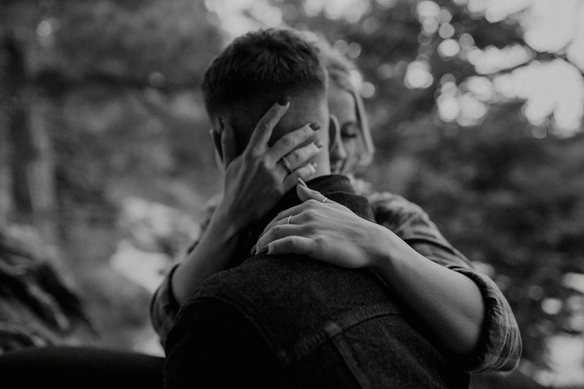 A warm embrace is all a photographer needs to make magic