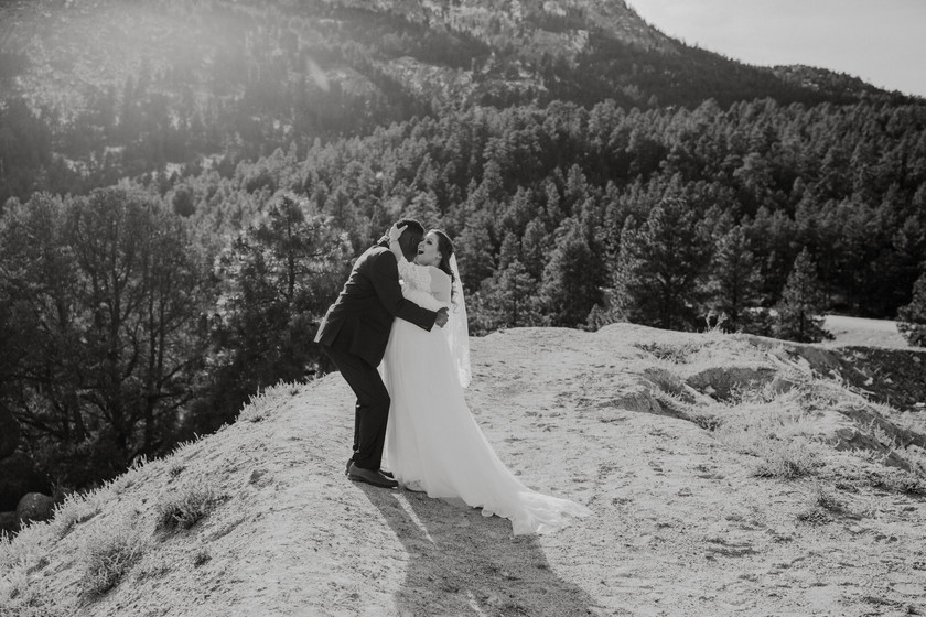 An embrace on mountaintop Is a beautiful moment you will always cherish.