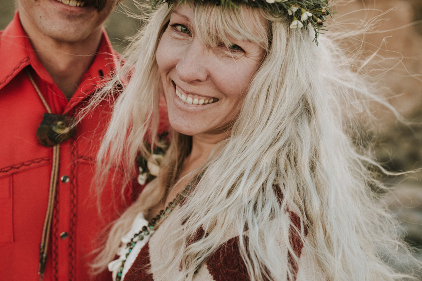 Floral crowns are perfect For the unconventional, bohemian bride.