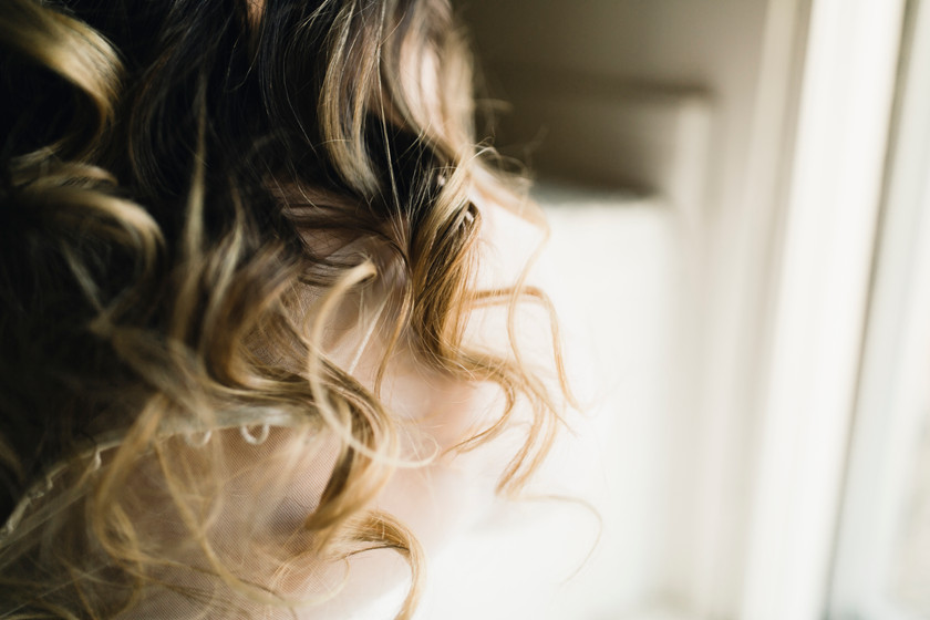 The brides hair Is soft, bouncy and beautiful. Spend the time pampering yourself for your elopement day.