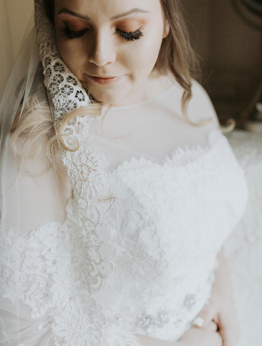 Lace on a wedding dress is a necessity of modern vintage bridal fashion.