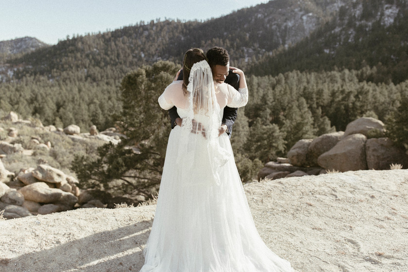 First look on mountain top provides the ultimate view at a momentous occasion
