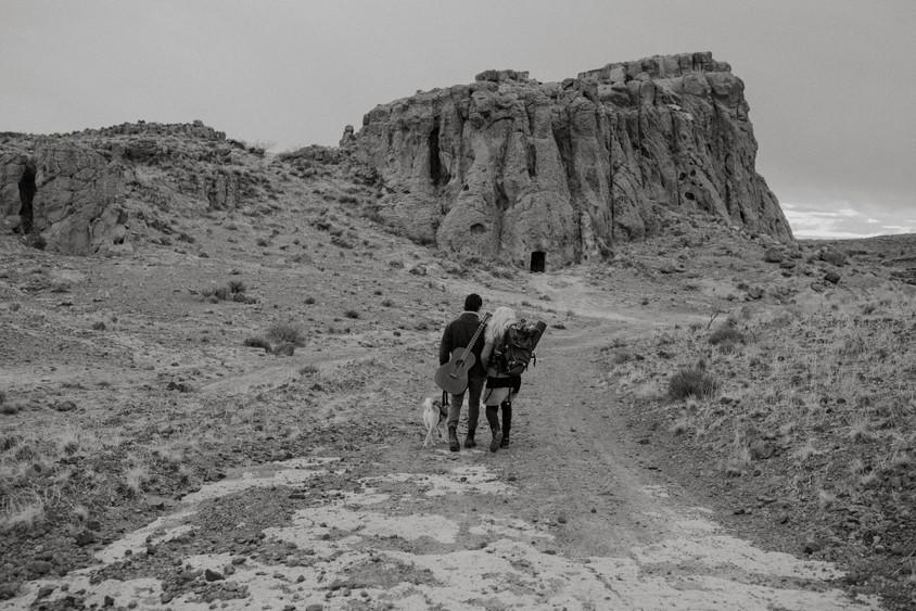 A beautiful scene in desert Hiking trail called monolith gardens.