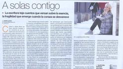 """Reseña en El Periódico de Aragón, por Javier Lahoz: """"A solas contigo"""""""