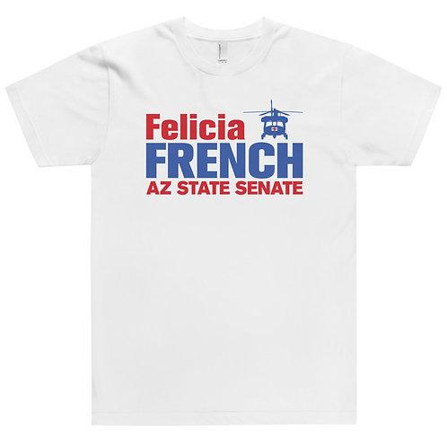Felicia French Unisex T-Shirt (White/Grey)
