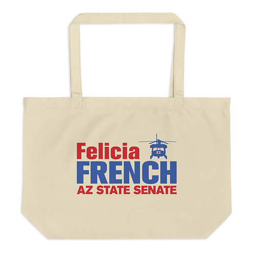 Felicia French Large Organic Tote/Grocery Bag