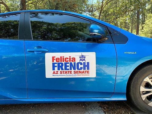 Felicia French Car Magnet