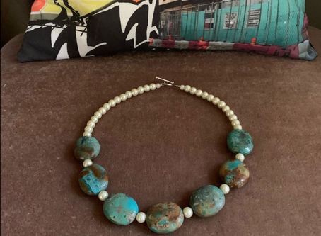 Stuff I Made: Turquoise and Pearls