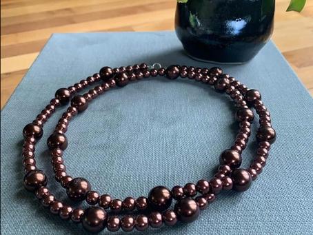 Stuff I Made: Espresso Glass Pearls