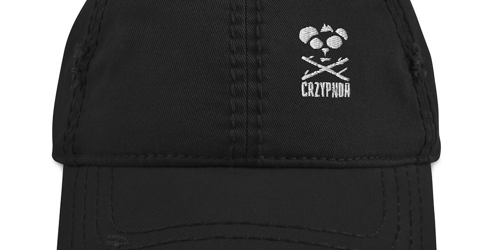 CrzyPnda Text Symbol and Text logo - Distressed Dad Hat