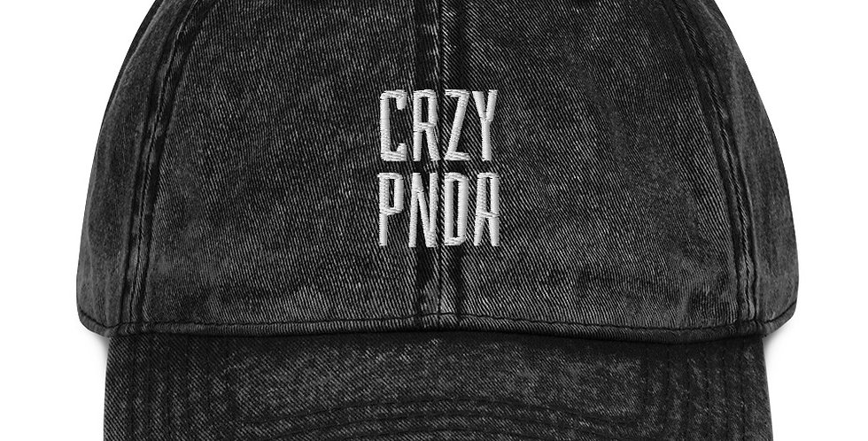 Crzypnda Logo Type Vintage Cotton Twill Cap