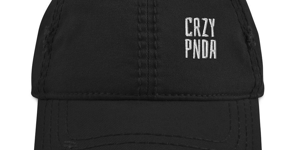 CrzyPnda Text Logo - Distressed Dad Hat